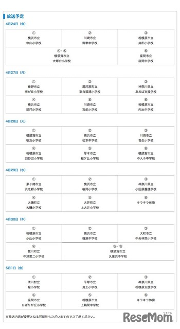 テレビ神奈川、小・中学生向けのHR番組を放送|教育ニュース一覧 ...